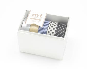 5 assorted rolls Washi tape GOLD SILVER - Masking Tape - Ref MT05G004Z cadeau