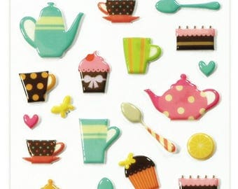 """Stickers Cooky relief """"Mug"""" x 28 - MAILDOR - Ref 560508"""