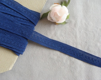 band Ribbon strap lingerie elastic blue 18 mm wide by the yard