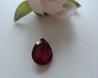cabochon 14 * 18 mm red glass rhinestones