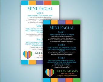 Rodan and Fields Mini Facial Card, Rodan and Fields Mini facial, Rodan and Fields referral card, R and F Printable - Digital file 0067