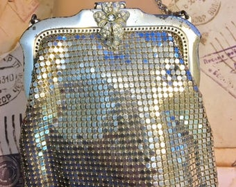 Vintage Rhinestone Whiting and Davis Evening Purse