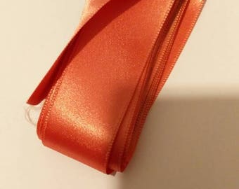 Ribbons Pink salmon polyester 25 mm to 80 cm