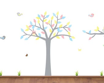 Kids Tree Decal, Tree Wall Decal, Nursery Decor, Large Tree, Branch Decal, Tree Branch Sticker, Wall Stickers, Fabric Decal