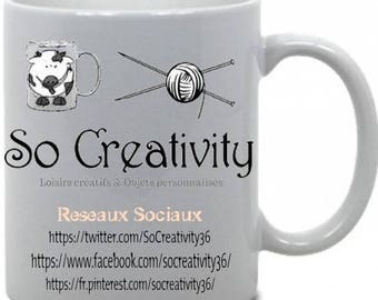 "Personalized mug theme ""Your logo here business"""