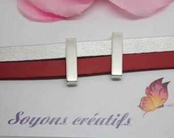 1 bar width silver high quality European 23 x 6 mm