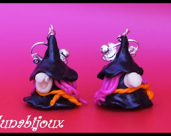 witch halloween Jewelry Halloween polymer clay earring