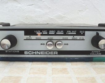 Radio brand schneider from the 1970s