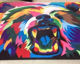 Vibrant Bear Painting