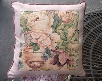 Tapestry frame biege print pillow cover