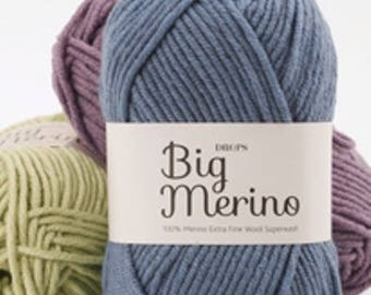 Big Merino from DROPS, 07 blue jeans