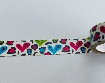 Washi tape heart washi 15 mm wide and 2.5 metres