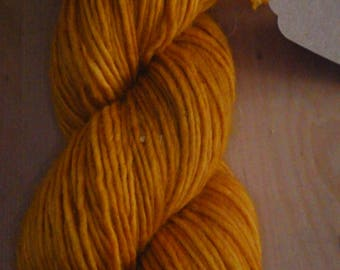 Cuddly soft Merino Wool, hand dyed with Robinia wood