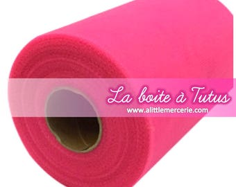 Soft roll of Tulle for tutu baby dress girl decoration pink neon Fuchsia