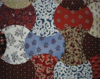 patchwork fabric multicolored ref meadow