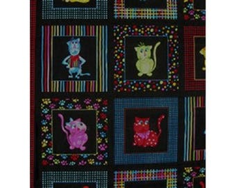 patchwork square ref 11221151 cats fabric
