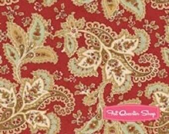 patchwork pattern on Burgundy background 4410116 Moda fabric