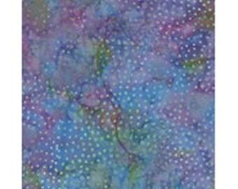 ref ib40f3 purple pink blue green batik patchwork fabric
