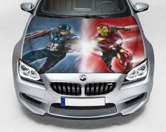 Wars Sticker Hood Etsy - Custom vinyl decals for car hoodssoldier full color graphics adhesive vinyl sticker fit any car