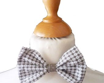 Bow tie boy Brown and white checkered