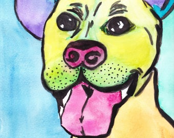Custom {pop art} pet portrait