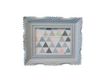 Photo frame gray fabric background pastel bridesmaid