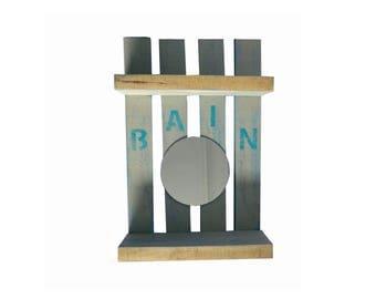 Pallet bath shelf