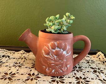 Terra-cotta Watering Can Planter