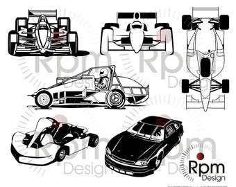 Race Car SVG file, SVG File, Race Car eps, Racing, Car, Racecar, Racing, Bundle, Vector, Digital, EPS file, Cuttable, Cricut, Silhouette,