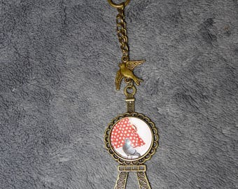 "Bag charm on the theme ""Looking wise girl"""