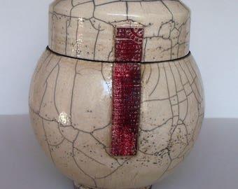 Ceramic raku ceramic raku urn candy box