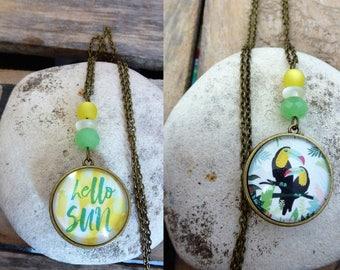 Reversible necklace - Hello Sun!