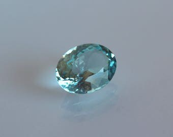 Sky blue natural aquamarine loose gemstone Faceted loose aquamerine stone 6.72 ct oval shape faceted gemstone for ring March birthstone