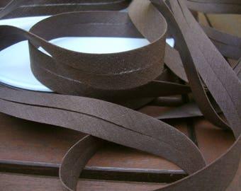 Chocolate brown polycotton bias