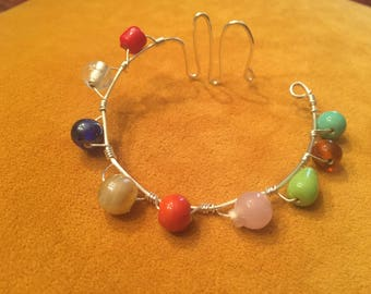 Multi Colored Wire Wrap Bracelet