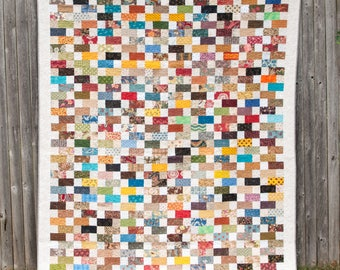 Scrappy Quilt - Machine Quilted Quilt