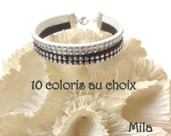 Two-tone cuff 2 rows Mila