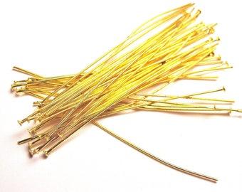 set of 10 gold metal 70mm stem
