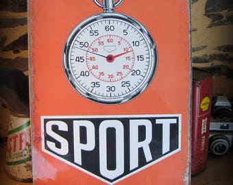 small metal plate sports chronograph Mont-carlo rally by deco cars