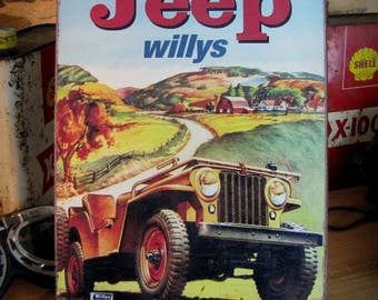 30x21cm Jeep Willys by cars-Deco vintage advertising Metal plate