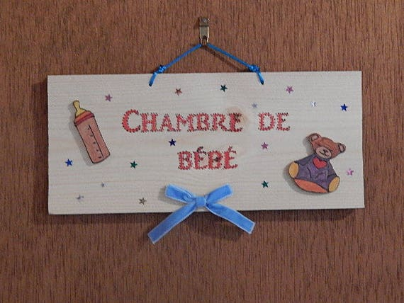 Plaque de porte d corative pour chambre de b b for Plaque de porte decorative