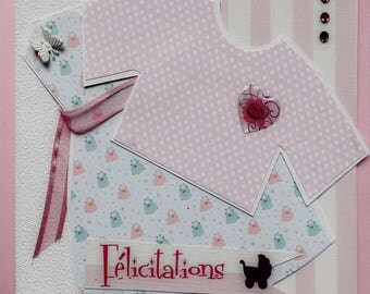 wishes and congratulations for the birth of a girl card