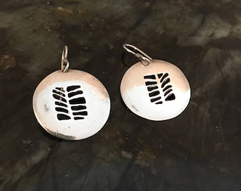D Stewart pierced sterling earrings