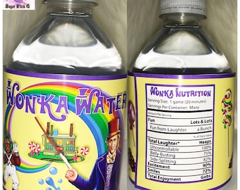 Willy Wonka Water Labels | Custom Water Labels