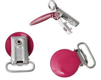 1 clip pacifier pacifier 3.4 cm x 23.0 mm watermelon red round metal