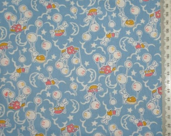 "Fabric patchwork blue retro - 30 ""Storybook Playtime"" 24 years"