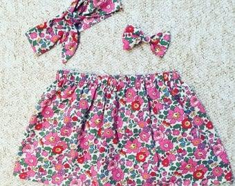 Duo: Skirt and headband Liberty