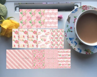 A5 printable planner inserts love letters collection with horizontal daily page