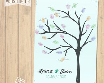 Tree prints, personalized wedding {to print yourself}