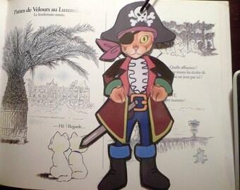 Cat bookmark: my little Capris, or my little pirate